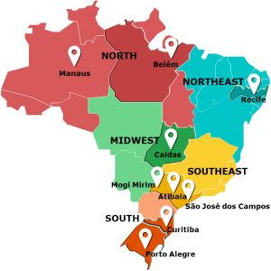 day camps brazil partners map