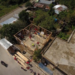 arial view of construction
